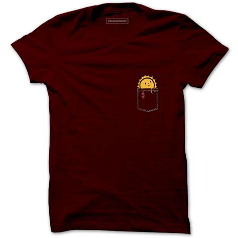 Sun Printed T Shirt buy sun bathing pocket t shirts printed