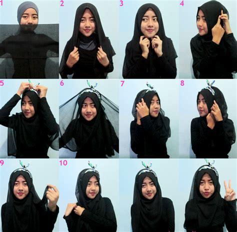 tutorial jilbab syar i segi 4 cara memakai jilbab segi empat terbaru