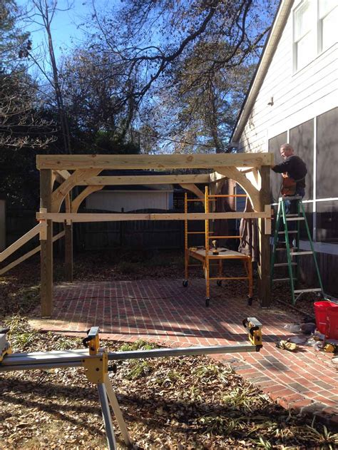 Backyard Pergola Quality First Construction Services Llc Gogo Papa