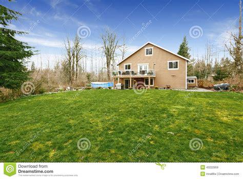 small house big backyard house with large backyard land stock photo image 43222959