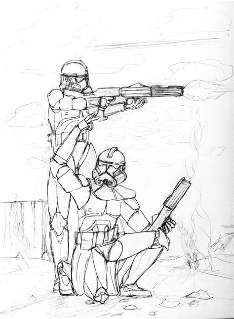 star wars clone trooper phase 2 coloring pages pictures to