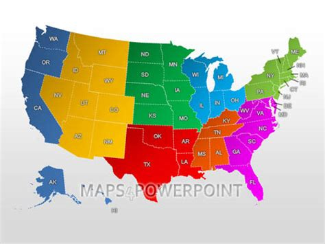 interactive map of usa for powerpoint u s powerpoint maps standard kit maps4powerpoint