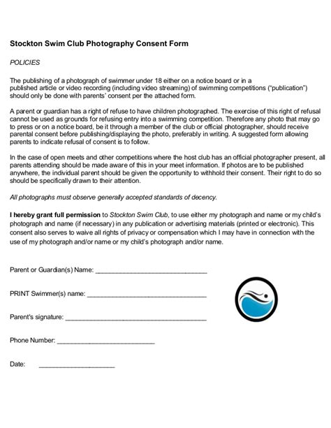 Parent Consent Letter For Photography Photograph Consent