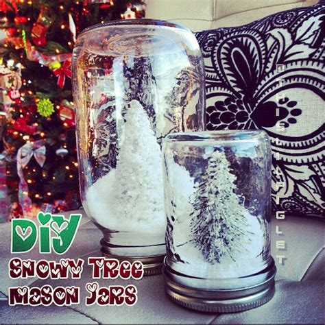 diy snowy mason jars diy decorations snowy tree jars this lil piglet