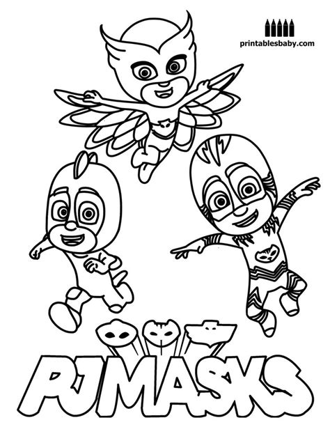 coloring pages pj masks 8 best pj mask images on favors