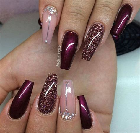 30 Amazing Burgundy Nail Designs for Women 2018   Pretty