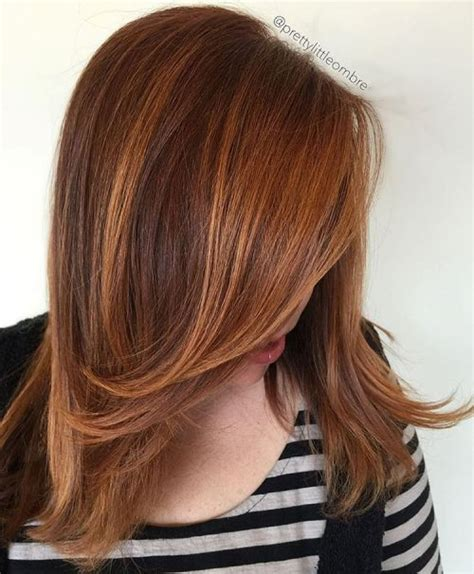 hairstyles with brown copper light brown stripes 40 fresh trendy ideas for copper hair color