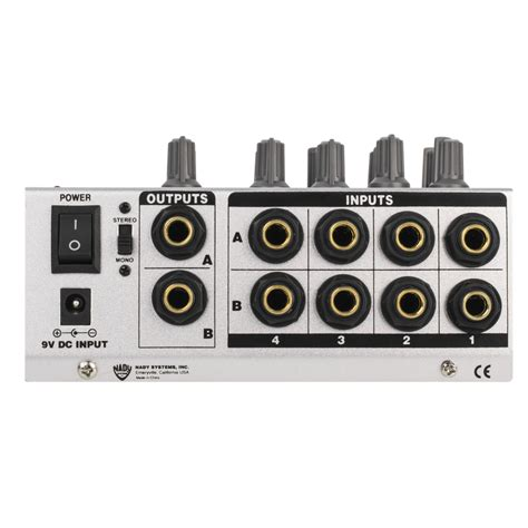 Mixer Audio Mini mm 242 4 8 channel stereo mono mini mixer nady systems