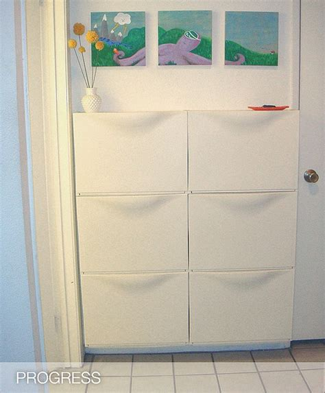 i like these ikea trones storage shoe drawers in an