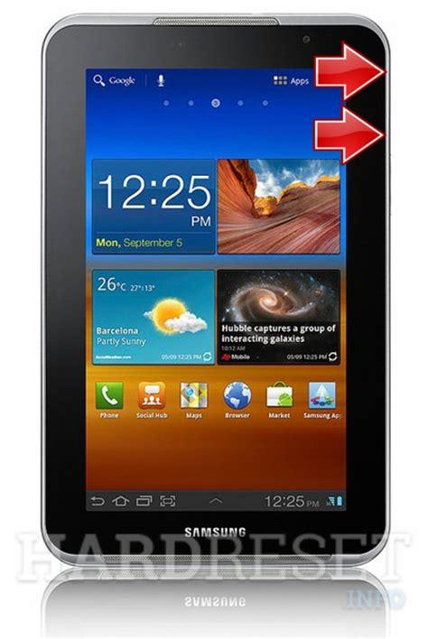 reset on samsung tablet hard reset samsung p6210 galaxy tab 7 0 plus dk hard