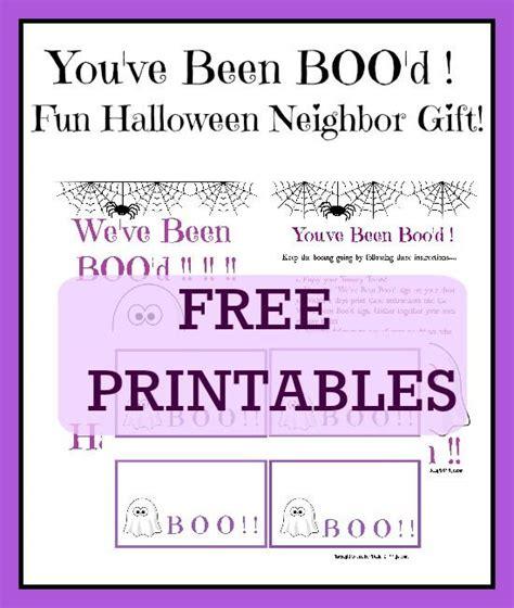 printable you ve been booed poem fun halloween neighbor gift you ve been boo d halloween
