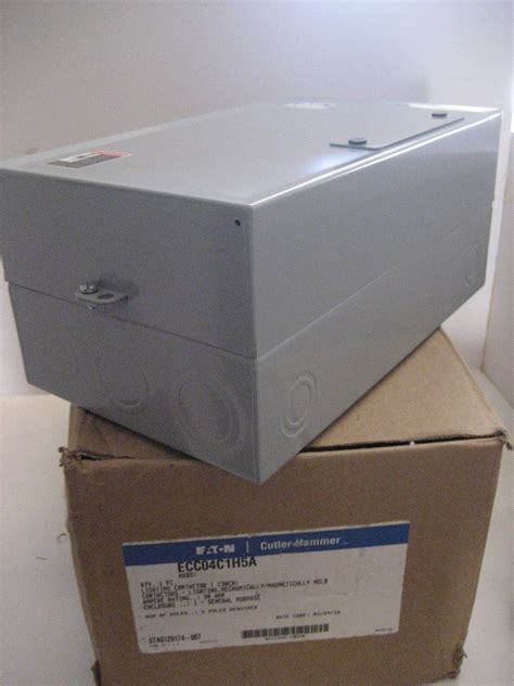 5 pole lighting contactor in box cutler hammer ecc04c1h5a 5 pole lighting
