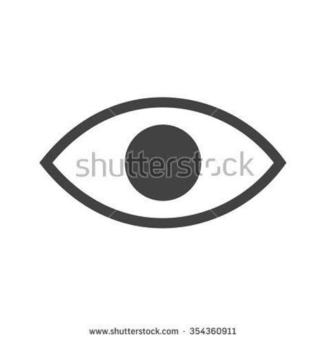 material design icon eye eye vector pictogram on white background 스톡 벡터 608654816