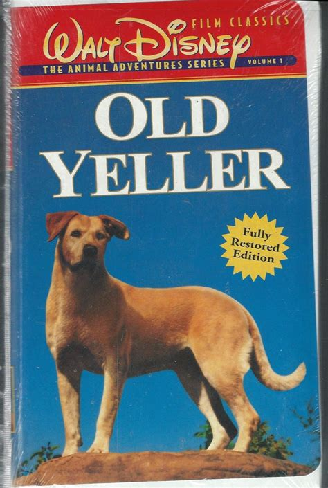 what of was yeller yeller vhs walt disney classics vhs