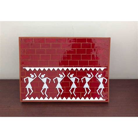 Decorative Name Plates For Home by Glass Mosaic Nameplate Warli Buy Glass Mosaic