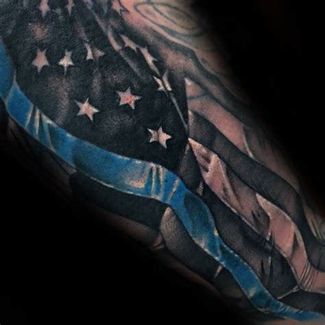 thin blue line tattoos pictures 50 thin blue line designs for symbolic ink ideas