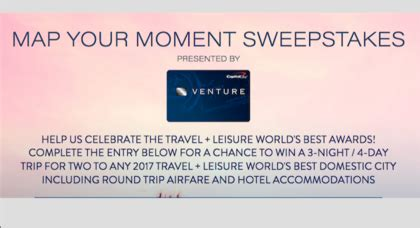 Travel And Leisure Sweepstakes - travel leisure map your moment sweepstakes sun sweeps