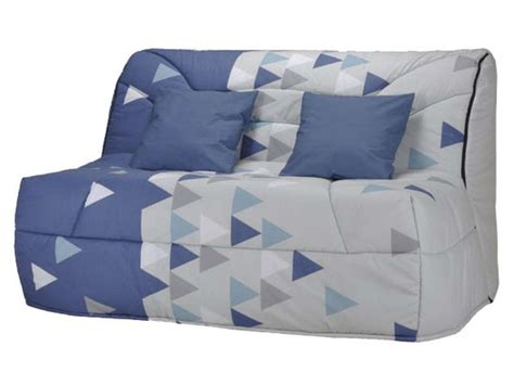 housse canapé bz 140 housse pour bz prima 140 cm prima triangle coloris bleu