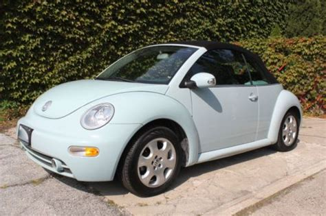 volkswagen bug light blue sell used volkswagen beetle bug gls aqua powder light