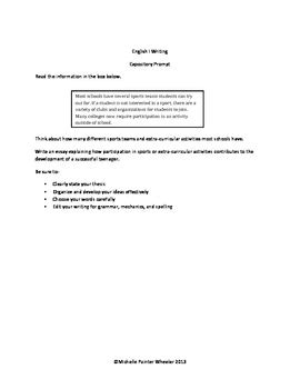 sle expository essay 7th grade staar expository essay prompts 7th grade docoments ojazlink