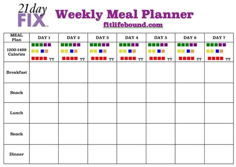 pinterest printable meal planner weekly meal plans weekly meals and 21 day fix on pinterest