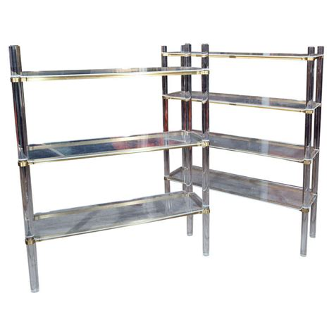 3 Tier Etagere lucite etagere 3 tier at 1stdibs