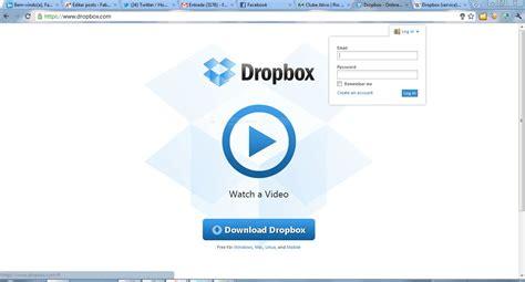 dropbox homepage servi 231 os web usando o dropbox on training