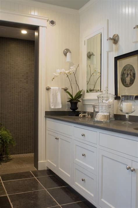 Grey Corian Countertops by Beautiful White Gray Bathroom Design With White