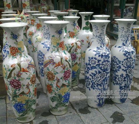 painted flower famille antique ceramic