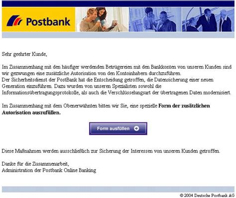 deutsche bank email tu berlin hoax info blatt identity theft