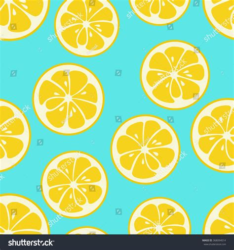 cute lemon pattern cute seamless pattern yellow lemon slices stock vector