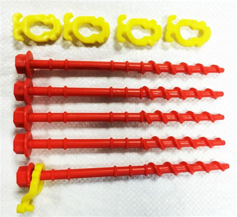 screw in tent awning pegs abs plastic strong screw in threaded tent pegs 5 pegs
