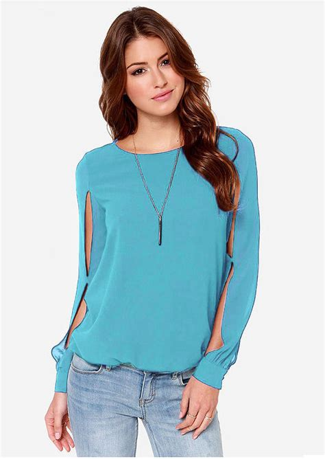Hollow Casual Top 26968 casual sleeves hollow out blouse fairyseason