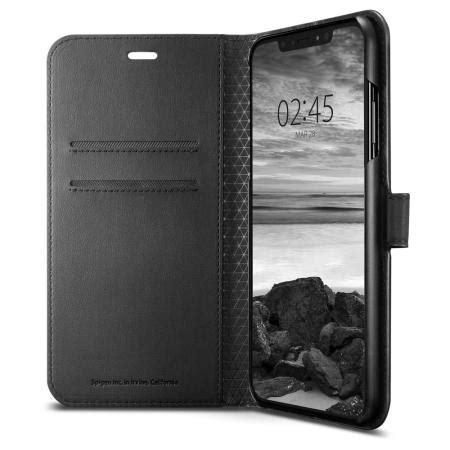 spigen wallet  iphone xs max case black