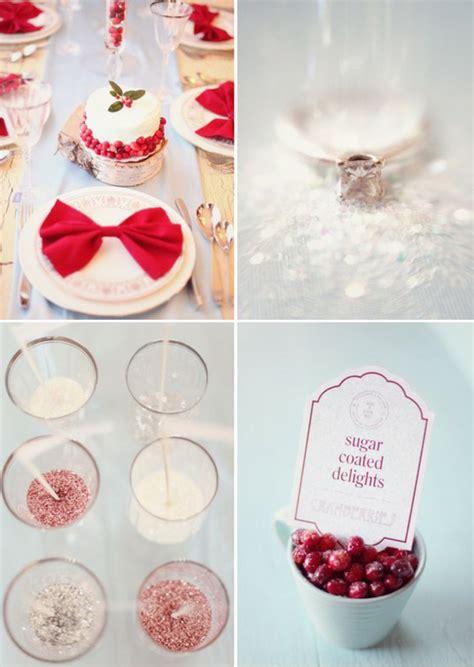 christmas wedding decoration tulle chantilly wedding blog