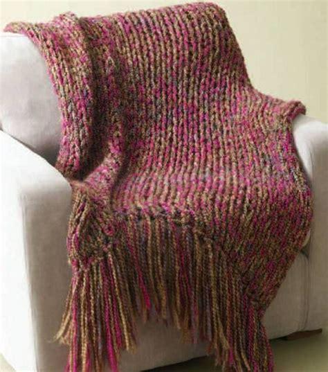 knitting pattern homespun yarn lion brand homespun 6 hour throw 34x54 in not including