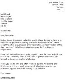 Resignation Letter For Nurses Uk Resignation Letter Format Letter Of Resignation
