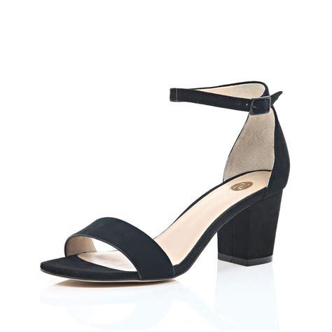 block heel black sandals river island black suede block heel sandals in black lyst