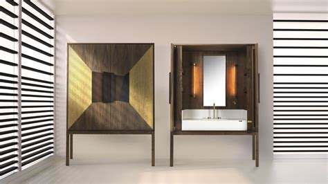 credenza vanity the dekauri cabinet is a vanity inspired by a credenza