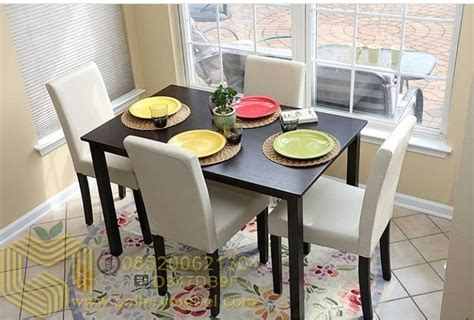 Meja Kursi Cafe Satu Set 4 Kurai set meja makan minimalis kursi jok gallery mebel
