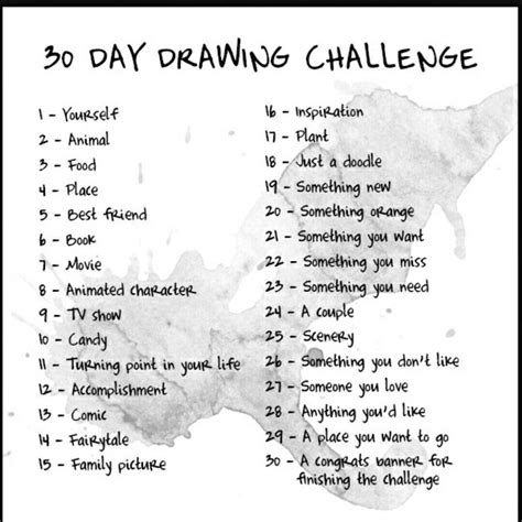 1 Drawing Per Day by 30 Day Drawing Challenge By Fanastycat On Deviantart
