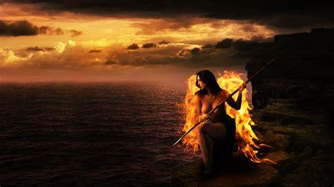 ngeles en llamas wallpapers de 225 ngeles de fuego con dise 241 os atractivos