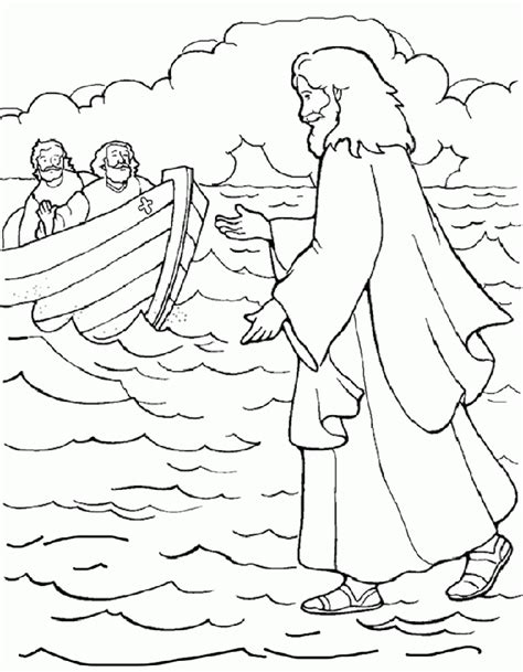 free coloring pages about water peter walking on water coloring pages az coloring pages