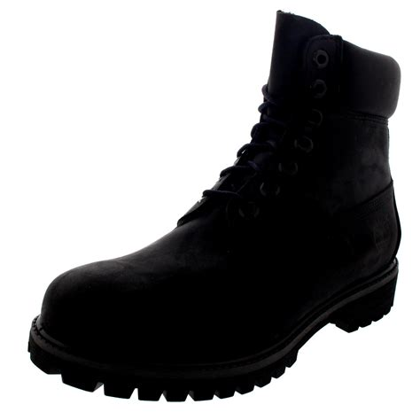 mens lace up biker boots mens timberland 6 inch premium black suede lace up ankle