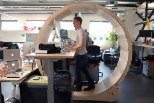 Desk Treadmill Canada The Hamster Wheel Desk That Lets You Exercise At The