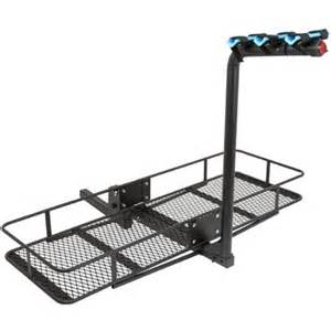 3 bicycle 60 quot folding cargo carrier basket rack combo for
