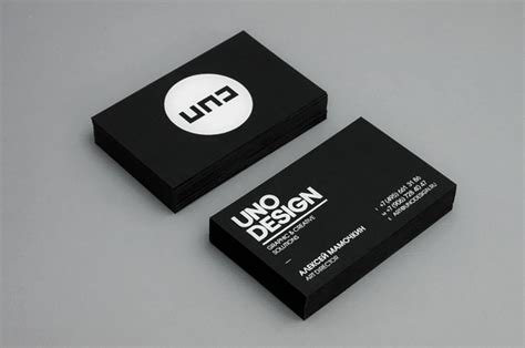 100 Refreshing Black & White Business Cards   Inspirationfeed