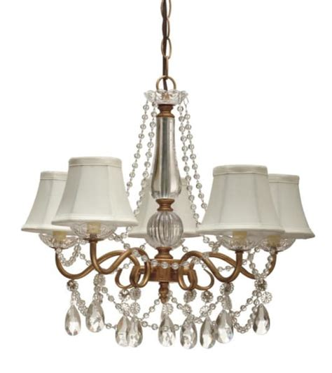 swag style five arm beaded chandelier chain ceiling plate