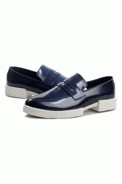 mens white patent leather loafers patent leather white thick sole blue oxford mens shoes loafers