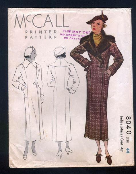 pattern dress software 129 best 1930s mccall coat patterns images on pinterest
